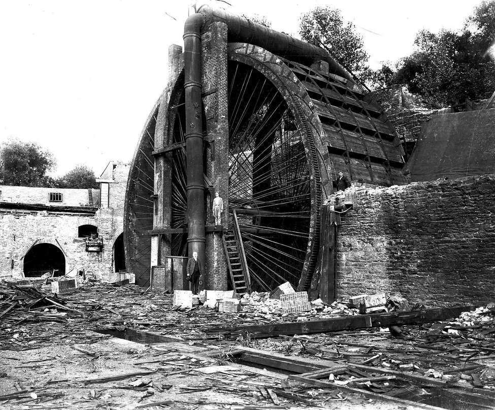 Keep clicking through the slideshow for historical photos of Troy. The water wheel at Burden Iron Works.