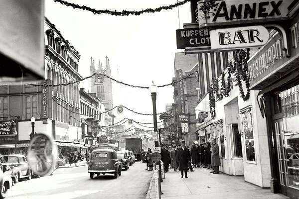 Historic Troy: Broadway and Third Street, 1949.