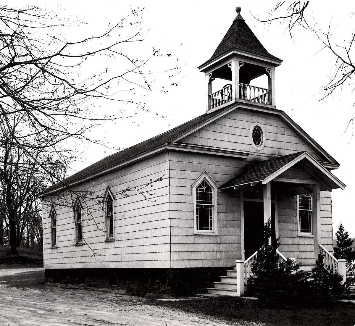 Historic Colonie : Pine Grove Methodist Church, 1950.