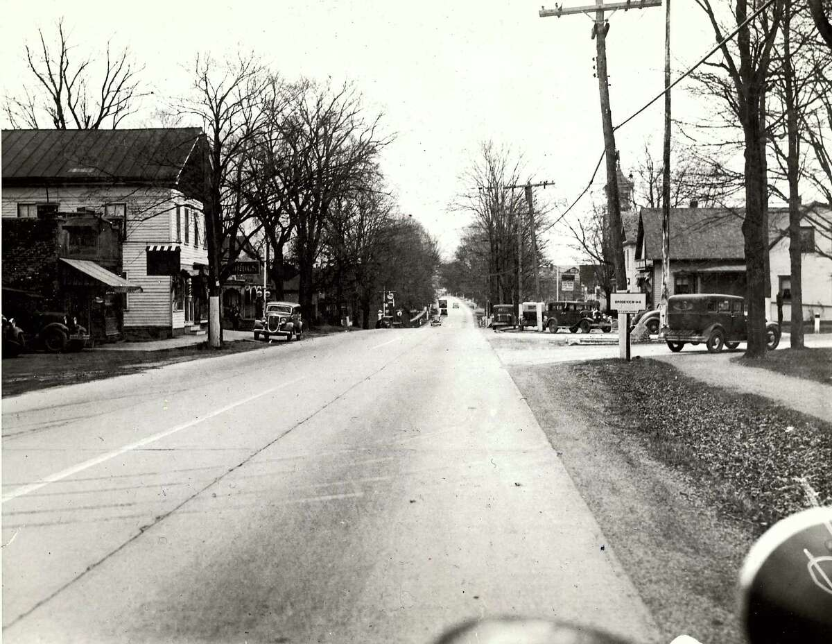 Keep clicking for historical photos from East Greenbush. Historic East Greenbush: State Road looking south during the 1930s.