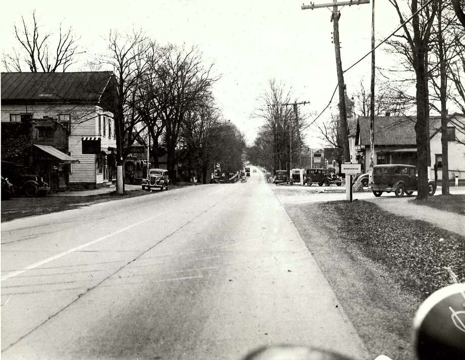 Historic East Greenbush: State Road looking south during the 1930s. / Times Union archive