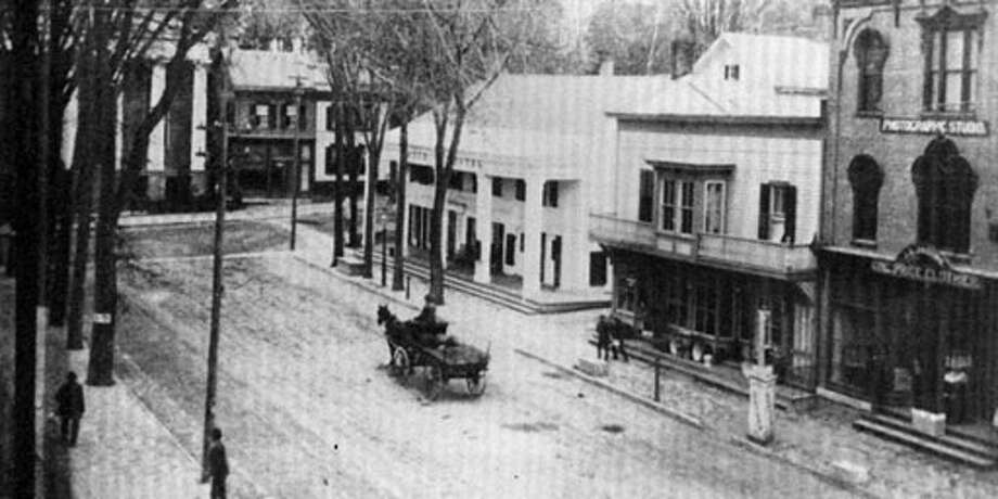 "Historic Ballston: An image of the Eagle Hotel, built in 1815, on the corner of Front Street and Milton Avenue where the post office is now located from the book ""Ballston Spa: Streetscapes Through Time"" by longtime village residents Paul and Mary Pastore."