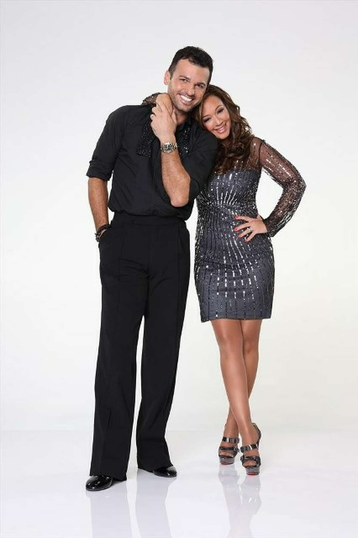 Leakes will dance with Tony Dovolani, shown here with Leah Remini.