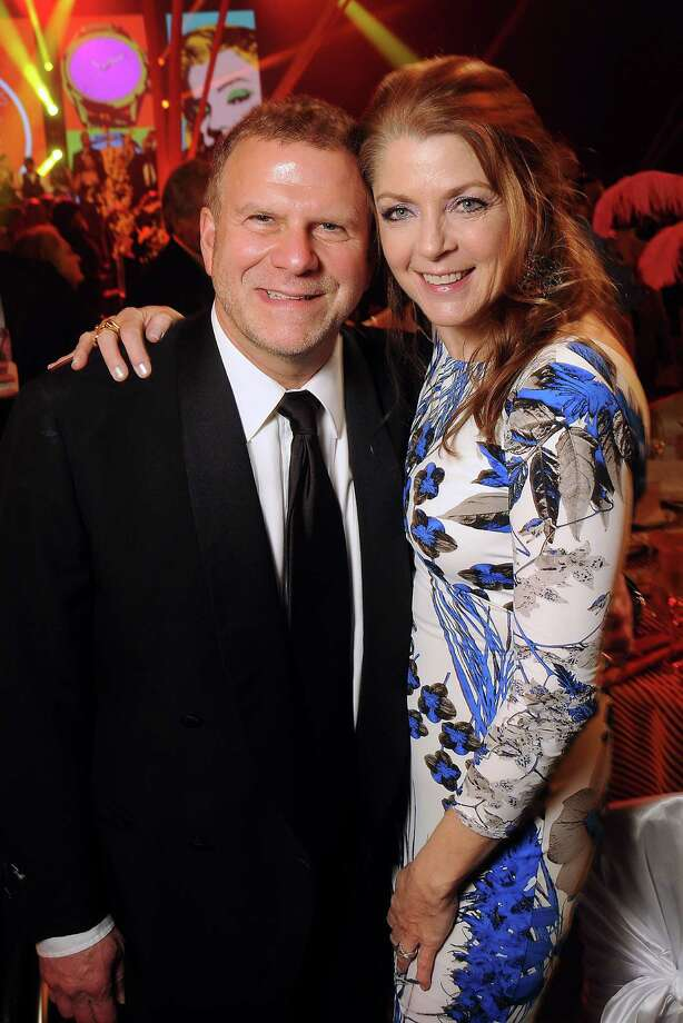 Host Paige and Tilman Fertitta at the 14th Annual San Luis Salute at the Galveston Island Convention Center Friday Feb 28, 2014.(Dave Rossman photo) Photo: Dave Rossman, Freelance / Freelance