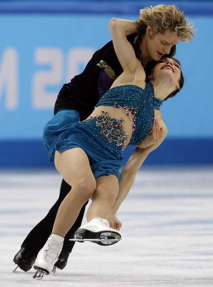 And of course Davis' ice dancing partner, Charlie White, can't be left out. Photo: ADRIAN DENNIS, AFP/Getty Images