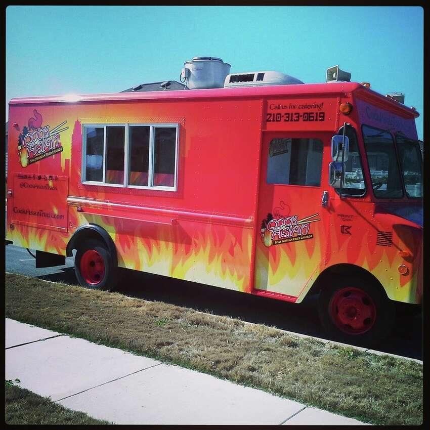 The food truck serves Asian Fusion dishes and is known for it's Korean Fried Chicken.