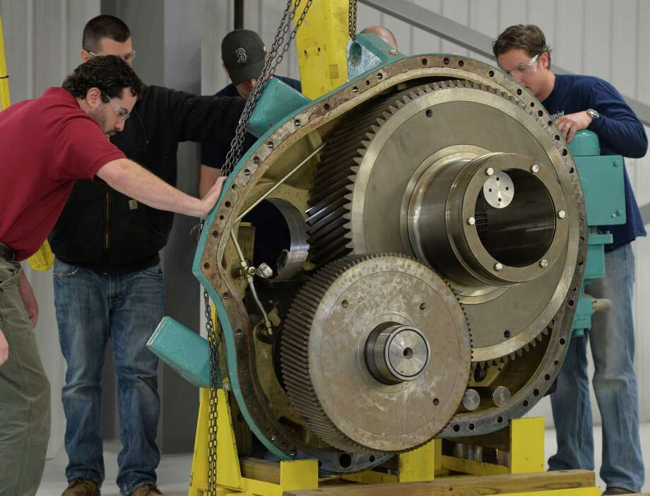 Industrial Machine RepairerAnnual median salary:$46,920Projected growth by 2020:17% Photo: Skip Dickstein / 00025914A
