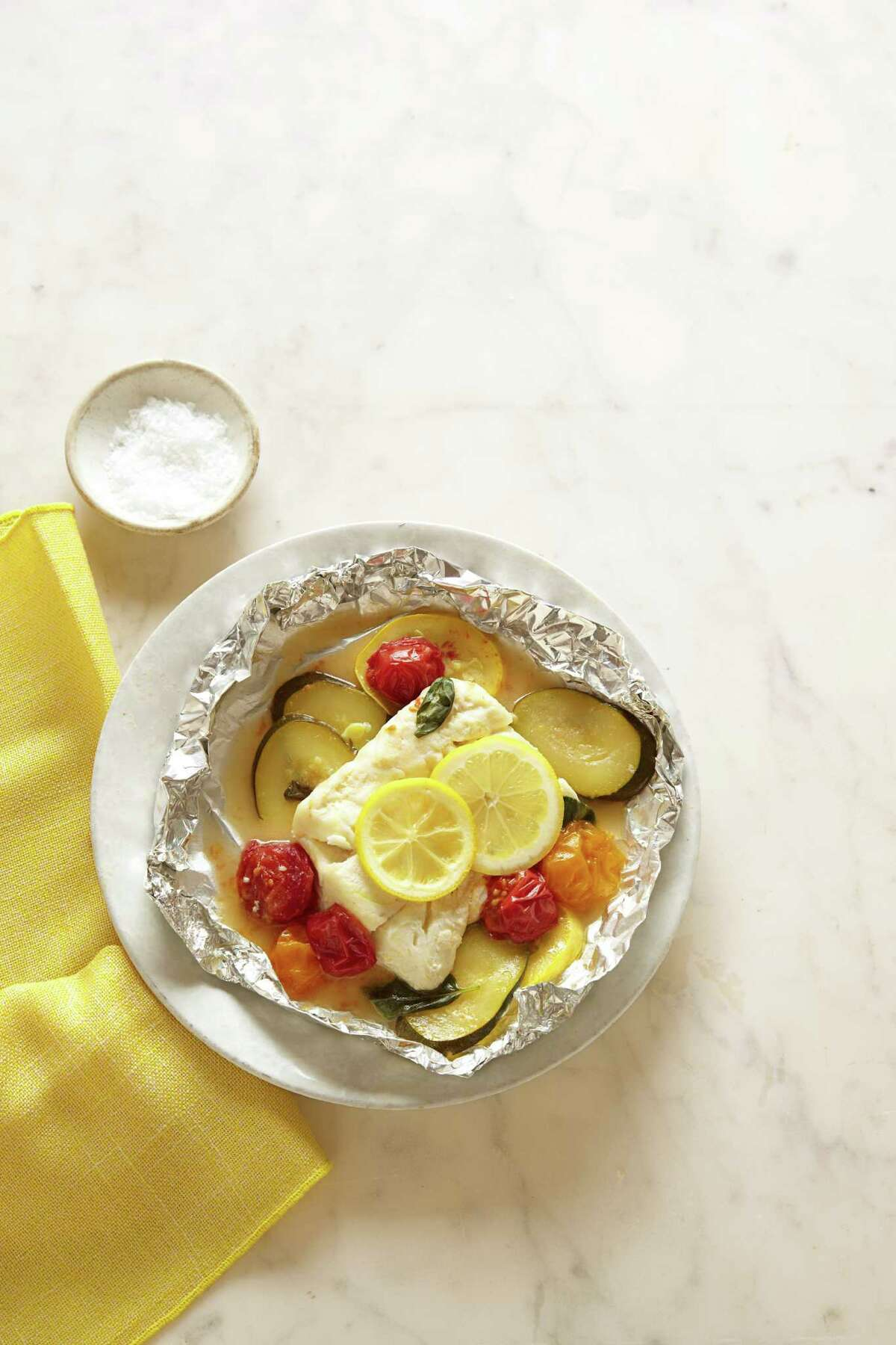 Steamed Summer Cod, from Good Housekeeping