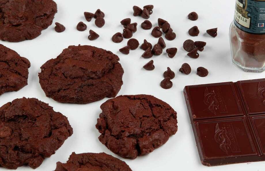 Cinnamon and chili powder go into these dark-chocolate cookies. Photo: Melissa Phillip, Staff / © 2014  Houston Chronicle