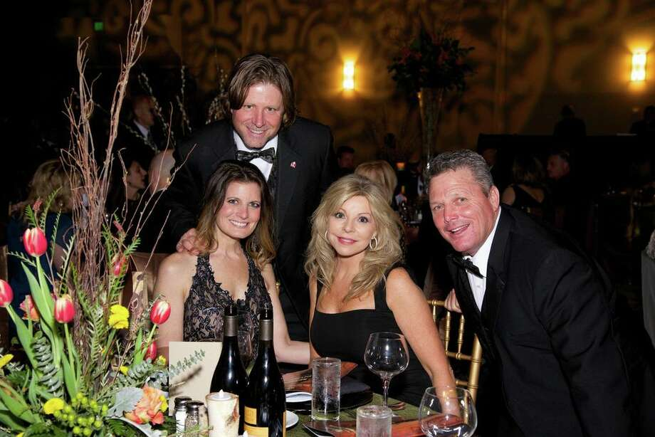 Natalie and Alan Noack and Colleen and Bobby Ayers at the Montgomery County American Heart Ball, March 1, 2014 Photo: Susan Lee