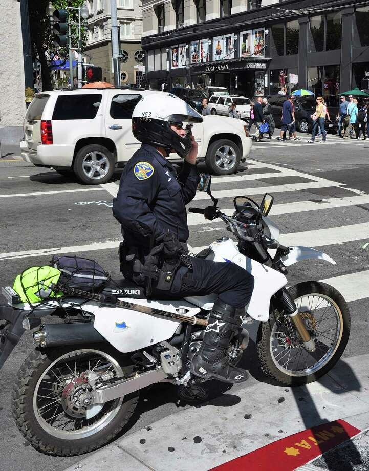 "The San Francisco Police Department has a special unit of motor officers who ride dual sport Honda XR650L bikes, the brand is so closely associated with the department it is officially called the ""Honda Unit."" Photo: Robert Alexander, Getty Images / 2013 Robert Alexander"