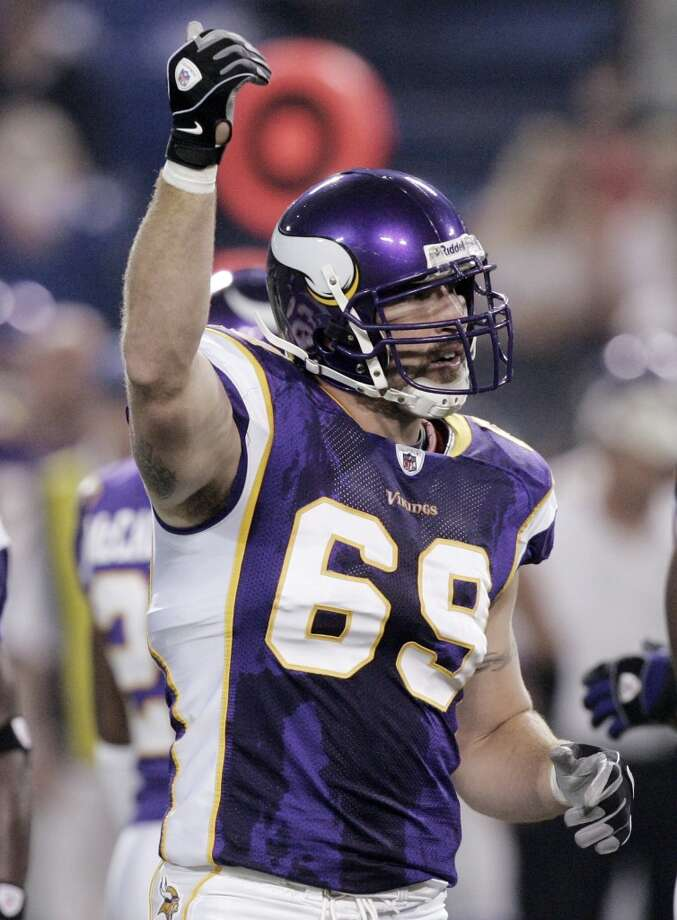 Jared Allen  2013 team: Minnesota Vikings  Age: 31  2013 stats: 52 tackles, 11.5 sacks, 2 forced fumbles Photo: Jim Mone, Associated Press