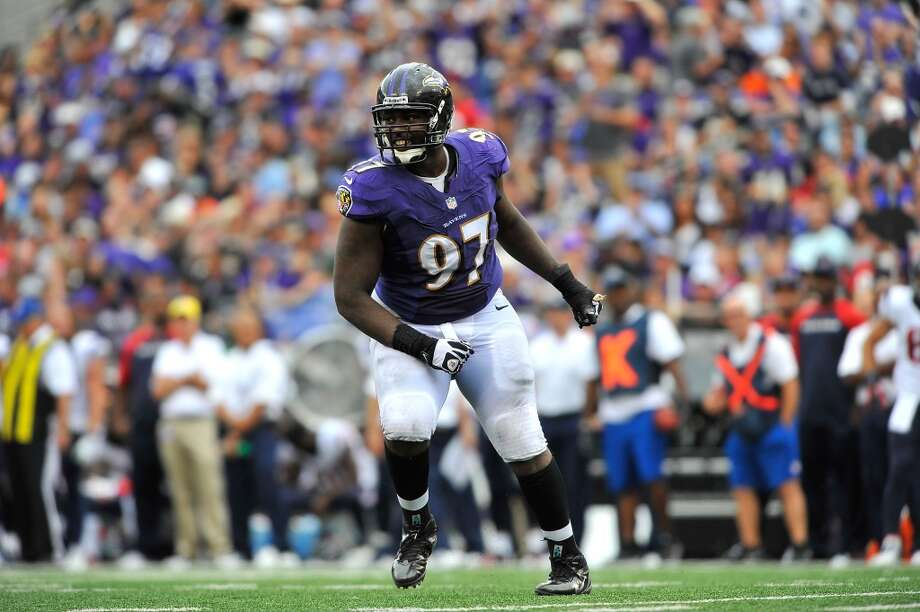 Arthur Jones  2013 team: Baltimore Ravens  Age: 27  2013 stats: 53 tackles, 4 sacks Photo: Larry French, Getty Images
