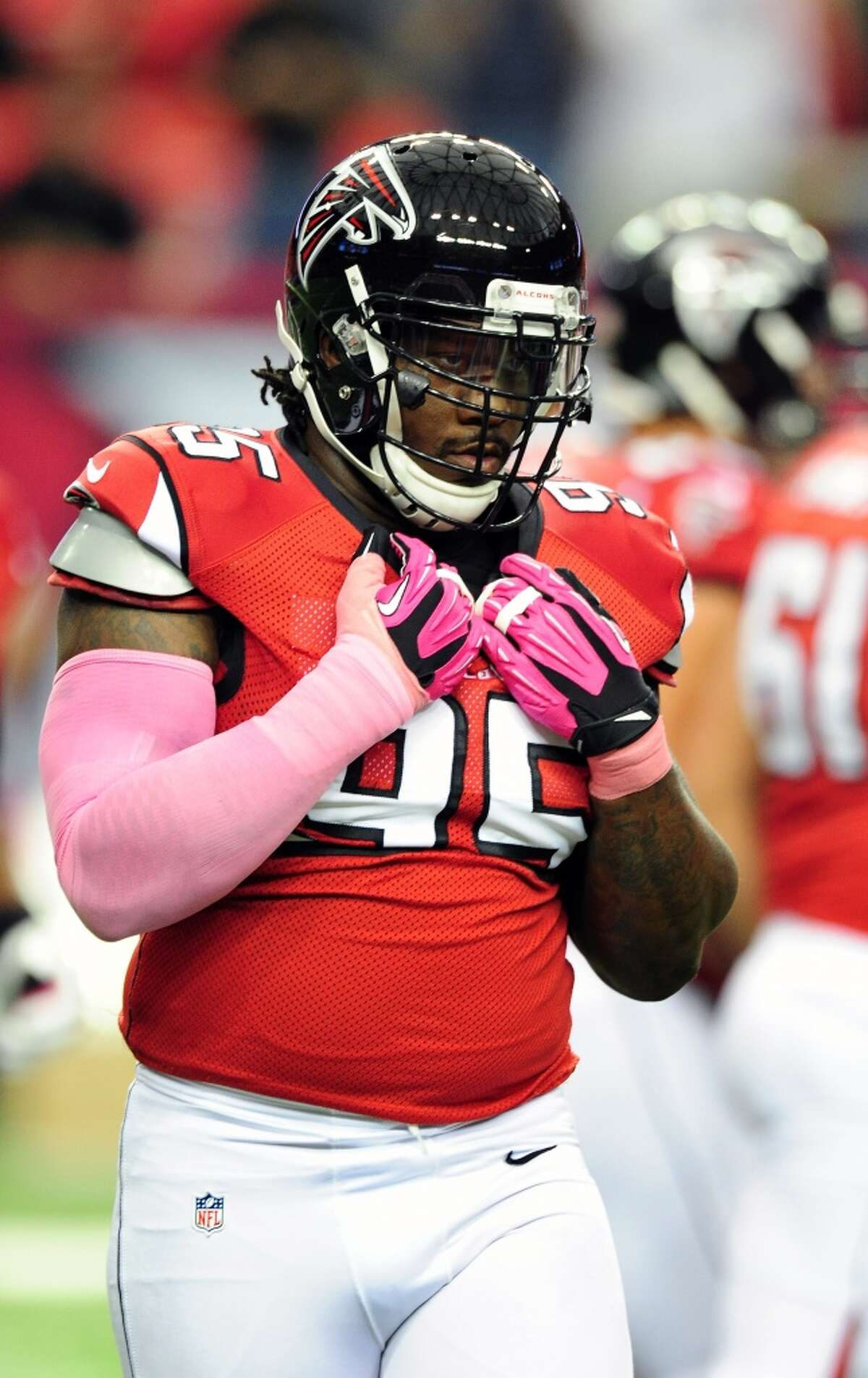 In his 12th year in the league, Falcons defensive tackle Jonathan Babineaux is playing in his first Super Bowl. He graduated from Port Arthur Lincoln in 2000 and attended college at Iowa.