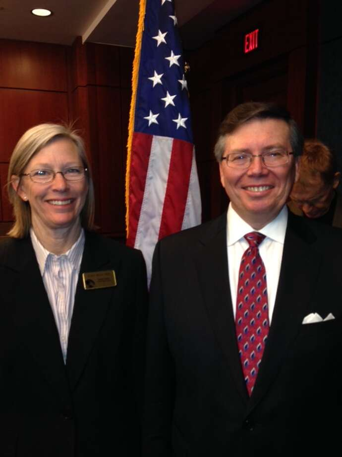 Fort Bend School Board president Jim Rice, right, and board assistant secretary Grayle James recently travelled to Washington, D.C., to take part in the National School Boards Association's new Advocacy Institute. Photo: Provided By Fort Bend Independent School District