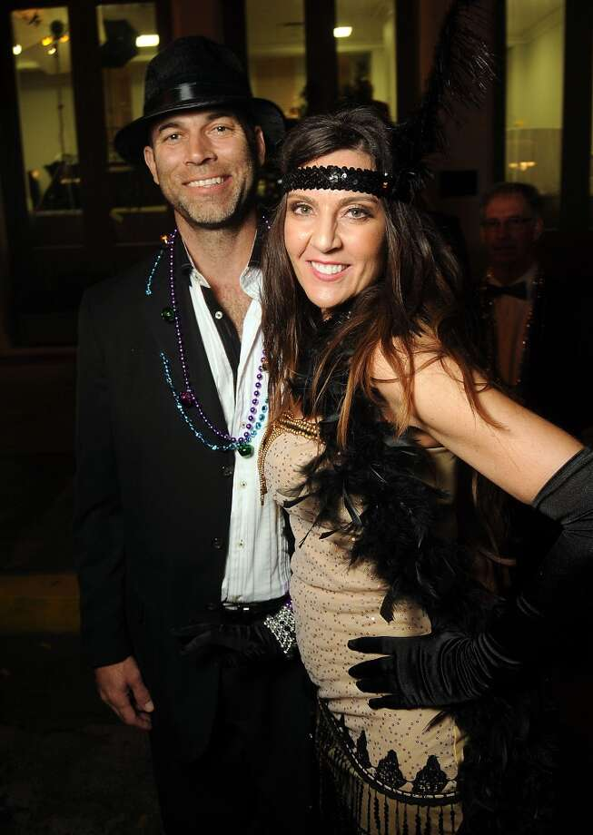 "Katrina and Todd Musemeche at the 30th Annual Tremont House ""Pearls and Prohibition"" Mardi Gras Ball on March 1 in Galveston. (Photo by Dave Rossman) Photo: Dave Rossman, For The Houston Chronicle"