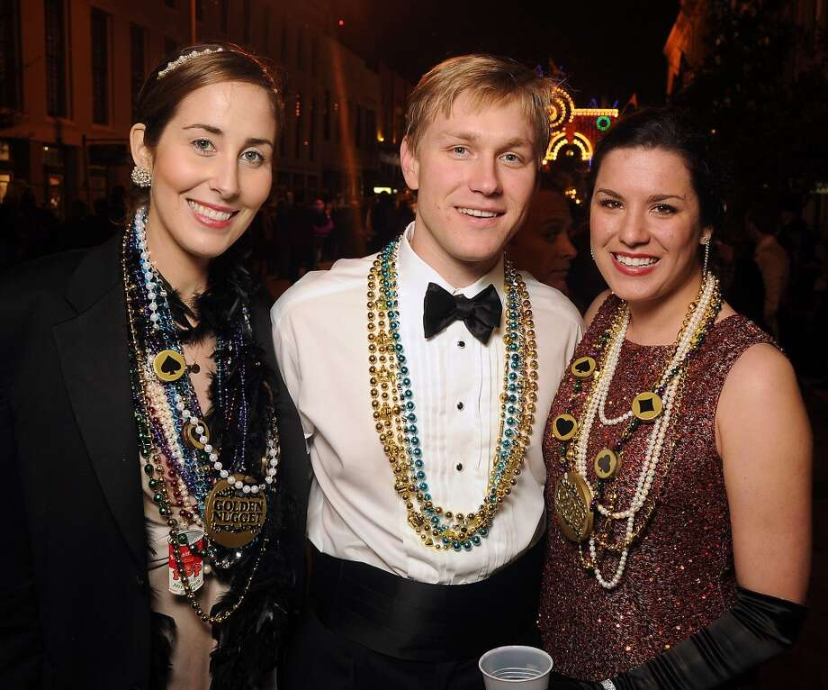 From left: Leigh Ann and Garrett Laughlin with Laura Leigh Reeves  (Photo by Dave Rossman) Photo: Dave Rossman, For The Houston Chronicle