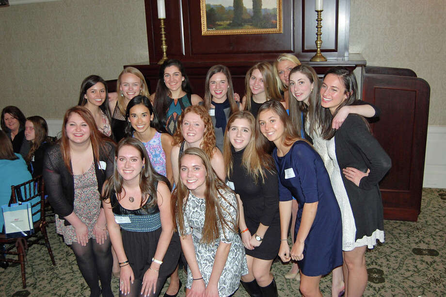 The New Canaan chapter of National Charity League's Class of 2014 at the organization's annual tea March 2. Photo: Contributed Photo, Contributed / New Canaan News Contributed