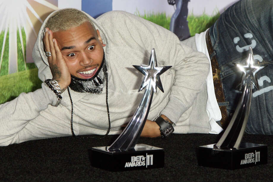 Singer Chris Brown poses in the press room at the BET Awards '11 held at The Shrine Auditorium on June 26, 2011 in Los Angeles, California. (suggested by reystjohn and others) Photo: Maury Phillips, WireImage / 2011 Maury Phillips
