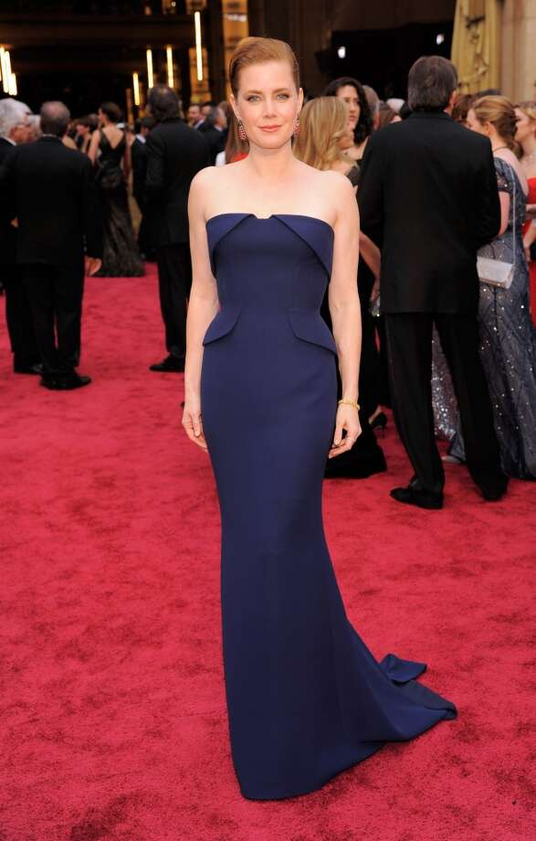 Seventh place: Amy Adams in Gucci with 3 percent of the Twitter votes.   (Foto Jordan Strauss/Invision/AP) Photo: Chris Pizzello, Associated Press