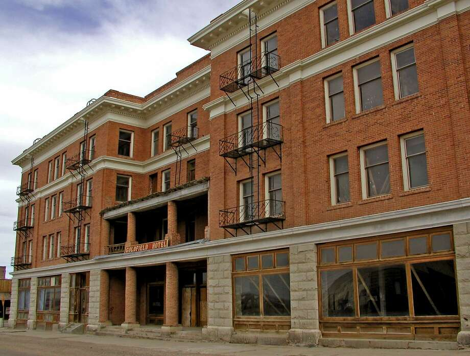 Head out of the city in search of ghost towns. Pictured: When Goldfield was the richest and most populated gold mining town in Nevada, the wealthy elite stayed at this swanky, four-story Goldfield Hotel. But after the boom turned to bust, say psychics and paranormal investigators, the now-defunct hotel became the haunting grounds of several ghosts, including the spirit of a pregnant prostitute who died while chained to a radiator in a small first-floor room.  Photo: Hugo Martin, TPN