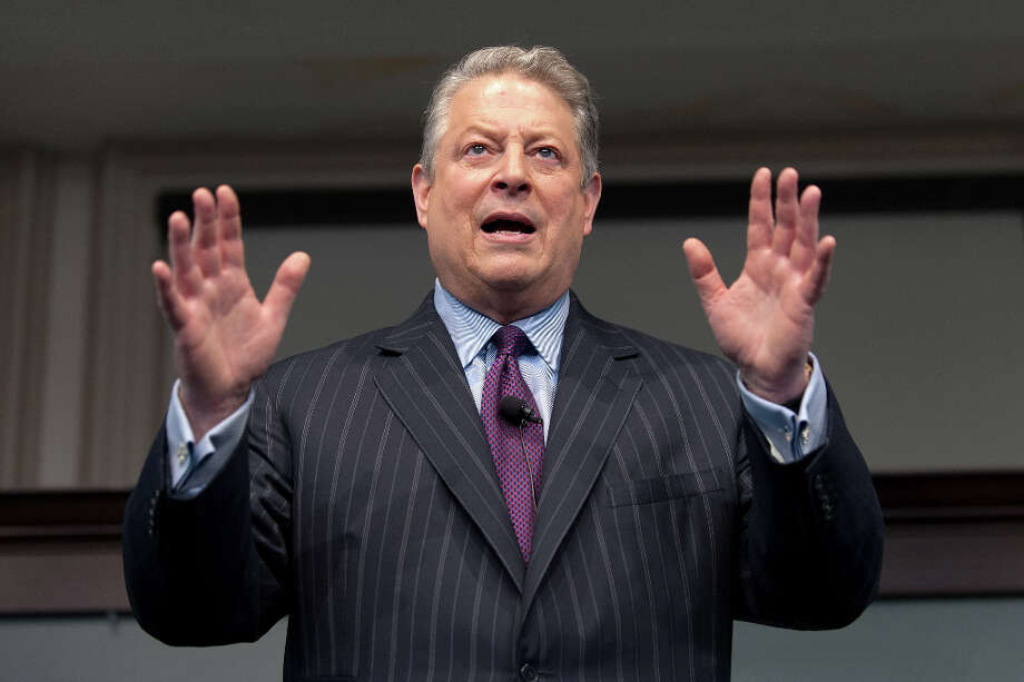 Ex-Vice President Al Gore waited until convention time to endorse Hillary Clinton.  He is a climate change crusader, Donald Trump is a global warming denier, but . . . Gore was a rival for power of Hillary Clinton during her husband's presidency.   Photo: D Dipasupil, FilmMagic / 2013 D Dipasupil