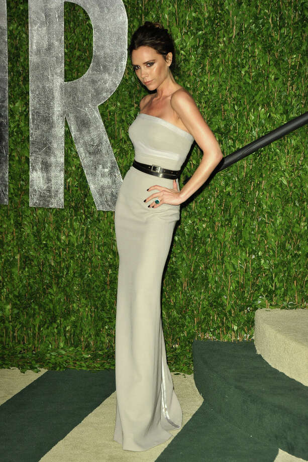 Fashion designer Victoria Beckham arrives at the 2012 Vanity Fair Oscar Party hosted by Graydon Carter at Sunset Tower on February 26, 2012 in West Hollywood, California. suggested by drimblewedge) Photo: John Shearer, WireImage / 2012 WireImage