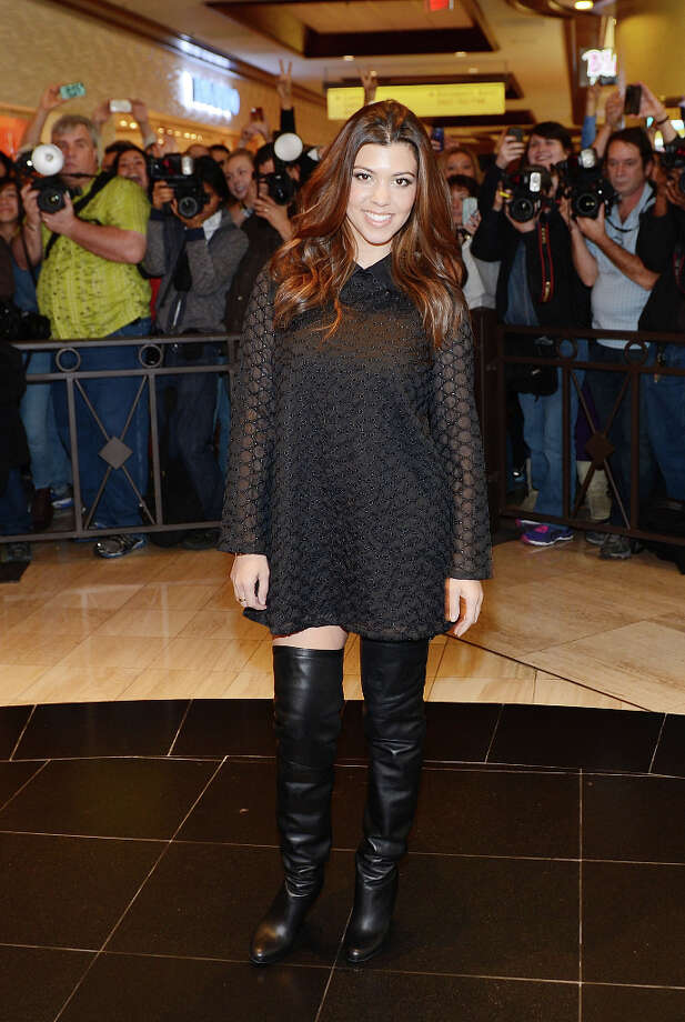 Kourtney Kardashian arrives at Kardashian Khaos at The Mirage Hotel and Casino on January 19, 2013 in Las Vegas, Nevada. (suggested by a number of readers in a blanket rejection of anything Kardashian) Photo: Denise Truscello, WireImage / 2013 Denise Truscello