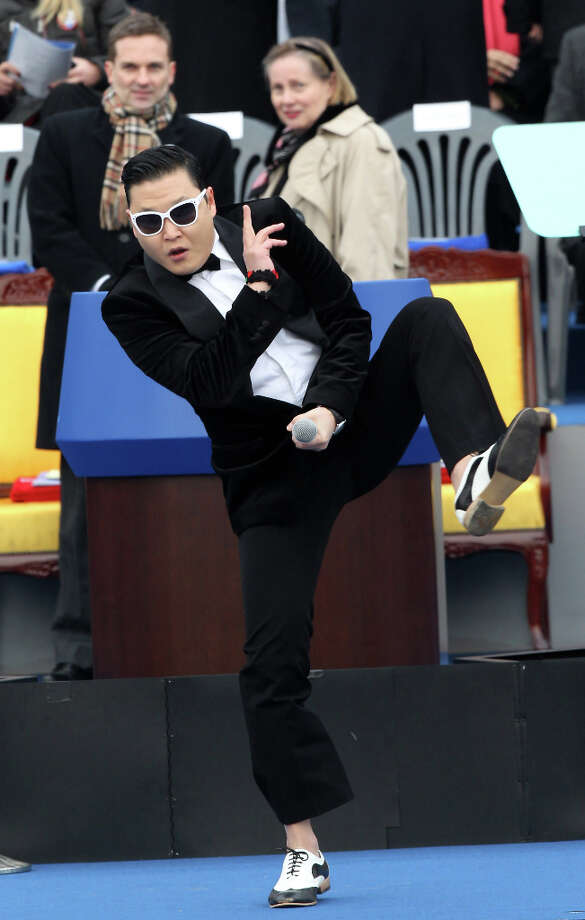 PSY performs at South Korean president inauguration ceremony in the National Assembly on February 25, 2013 in Seoul, South Korea. (reader suggestion) Photo: Pool, Getty Images / 2013 Getty Images