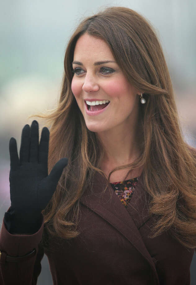 Catherine, Duchess of Cambridge arrives at Havelock Academy on March 5, 2013 in Grimsby, England.  The pregnant Duchess of Cambridge is spending the day visiting Grimsby in the North East of England. (suggested by drimblewedge) Photo: Chris Jackson, Getty Images / 2013 Getty Images
