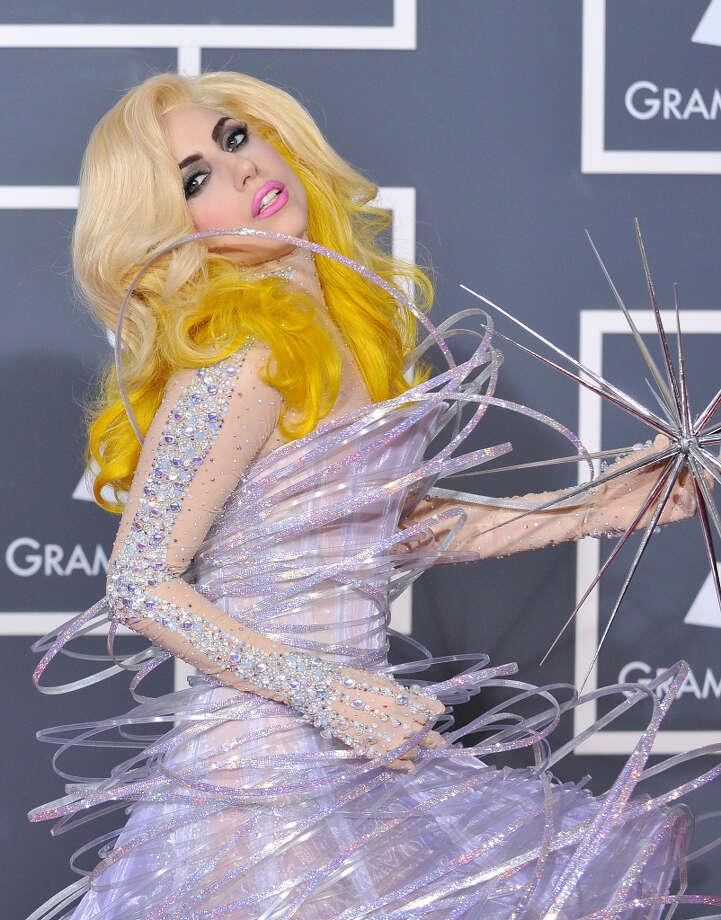Singer Lady GaGa arrives at the 52nd Annual GRAMMY Awards held at Staples Center on January 31, 2010 in Los Angeles, California. (suggested by reystjohn and ctca) Photo: Jon Kopaloff, FilmMagic / 2010 Jon Kopaloff