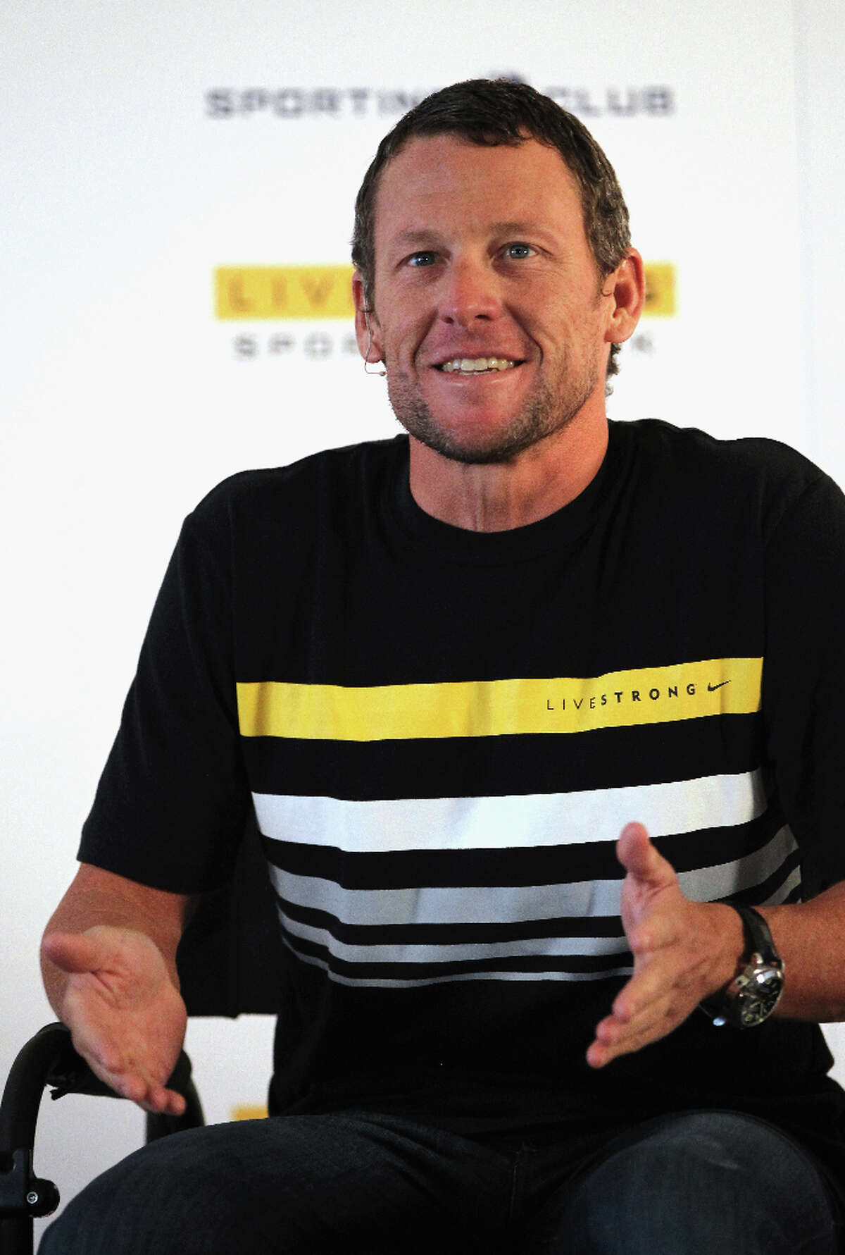 Lance Armstrong, who has not had a good year, suggested by drimblewedge.