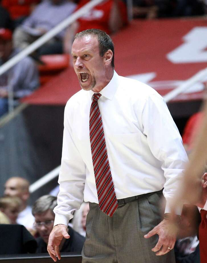 Utah head coach Larry Krystkowiak, who played for Mike Montgomery at Montana, has raised the level of the Utes during his three years there. Photo: Rick Bowmer, Associated Press
