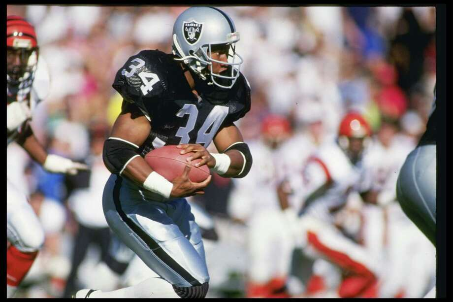 Bo Jackson— football and baseballThe only athlete to be named an All-Star in two of the four major American sports, Jackson was a huge star in the 1980s and '90s when he played in both the NFL and MLB. He played four years for the Oakland Raiders, and ended up laying eight years in the MLB for the Kansas City Royals, Chicago White Sox and California Angels before retiring after 1994. Photo: Mike Powell, Getty Images / Getty Images North America