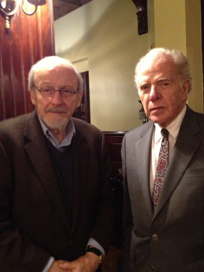 E.L. Doctorow, left, and Willliam Kennedy (Paul Grondahl / Times Union)