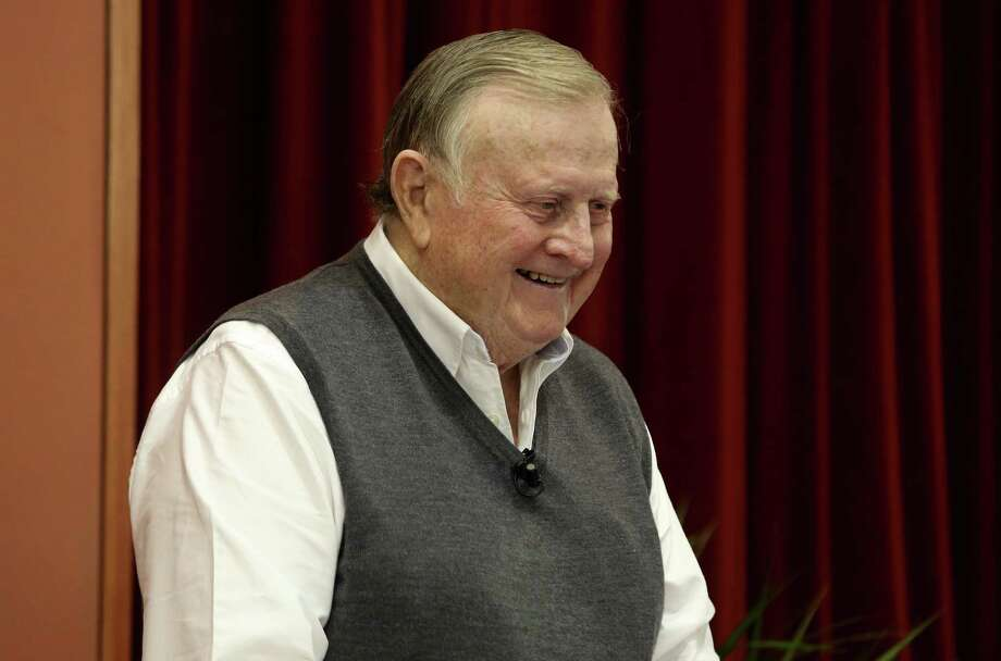 "UT's McCombs School of Business -- named for billionaire B.J. ""Red"" McCombs (pictured) -- came in 24th on Business Insider's World's 50 Best Business Schools list, citing its 20-plus programs for MBA candidates. Photo: San Antonio Express-News / ©2013 San Antonio Express-News"