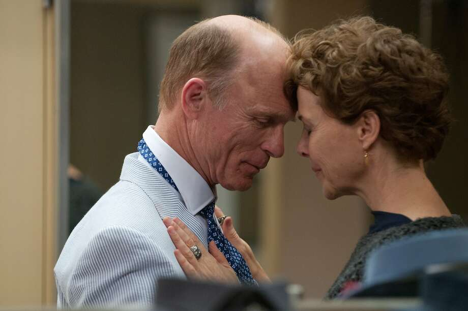 "Annette Bening plays a widow who falls for a man (Ed Harris) who looks just like her late husband in ""The Face of Love,"" opening Friday. Photo: Samuel Goldwyn Films"