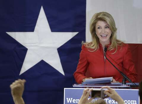 Texas Sen. Wendy Davis, D-Fort Worth, speaks to supporters at her campaign headquarters Tuesday, March 4, 2014, in Fort Worth, Texas. (AP Photo/LM Otero) Photo: LM Otero, Associated Press