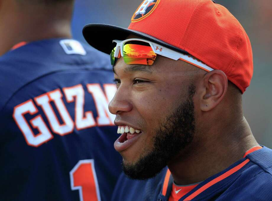 Astros prospect Jon Singleton says he has not smoked mari-juana in more than a year and is limiting his use of alcohol. Photo: Karen Warren, Staff / © 2013 Houston Chronicle