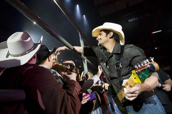 Country star Brad Paisley mingles with fans at his concert opening  RodeoHouston.
