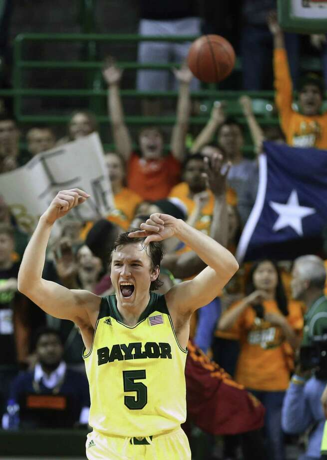 Brady Heslip, playing in his final regular-season game at home, scored 18 points in Baylor's 74-61 upset of Iowa State. Heslip is one of several Big 12 players who hail from Canada. He and Kenny Chery give Baylor an All-Canadian backcourt. Photo: Rod Aydelotte / Associated Press / Waco Tribune Herald