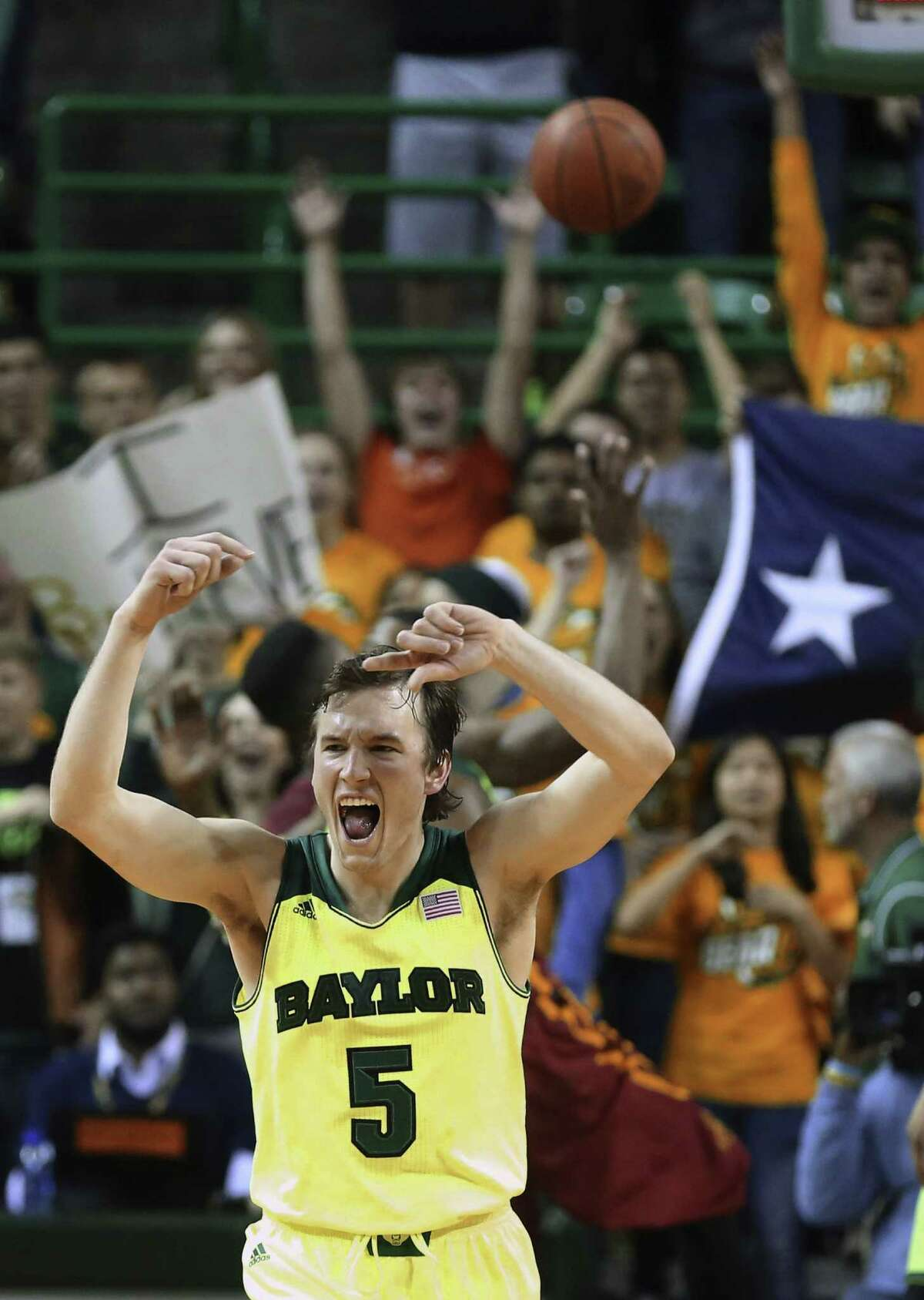 Brady Heslip, playing in his final regular-season game at home, scored 18 points in Baylor's 74-61 upset of Iowa State. Heslip is one of several Big 12 players who hail from Canada. He and Kenny Chery give Baylor an All-Canadian backcourt.