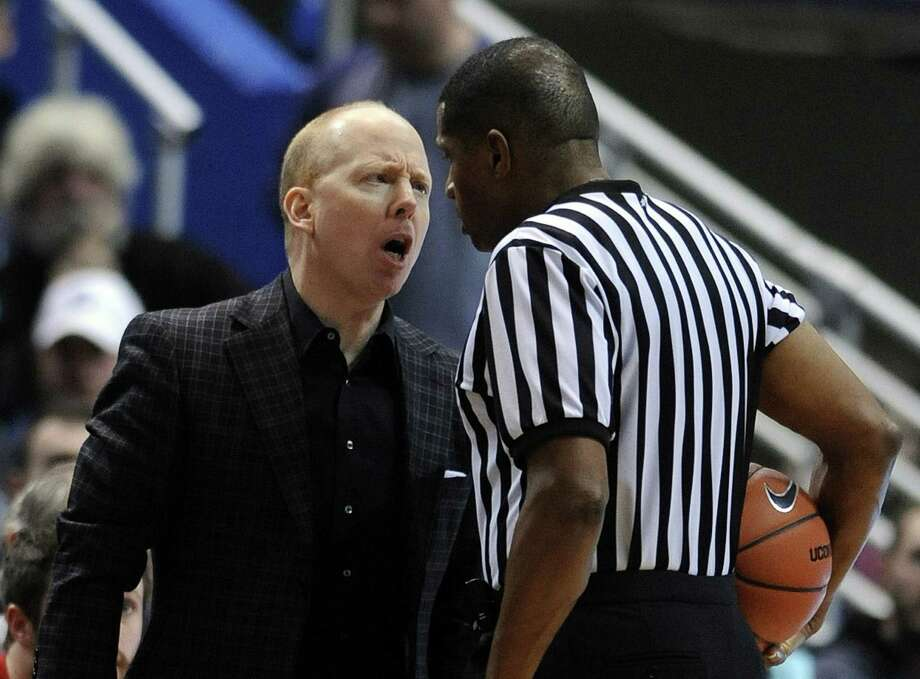 Cincinnati Coach Mick Cronin Goes Face To Face With Official Ted Valentine  During Sundayu0027s