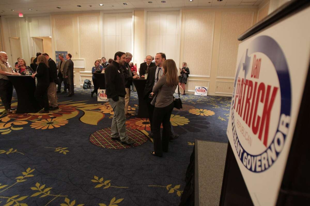 Supporters at Dan Patrick's election watch party. ( James Nielsen / Houston Chronicle )