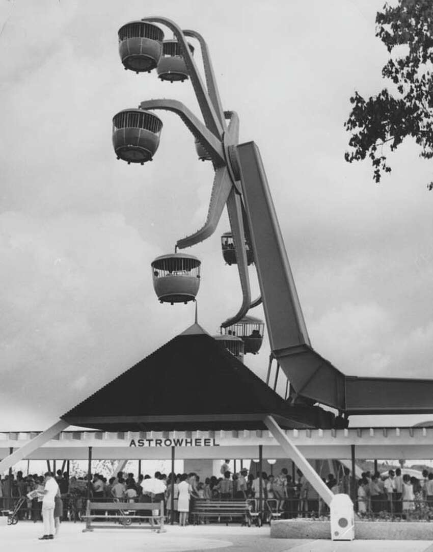 The Astrowheel was one of AstroWorld's original rides. It is pictured here on June 1, 1968.