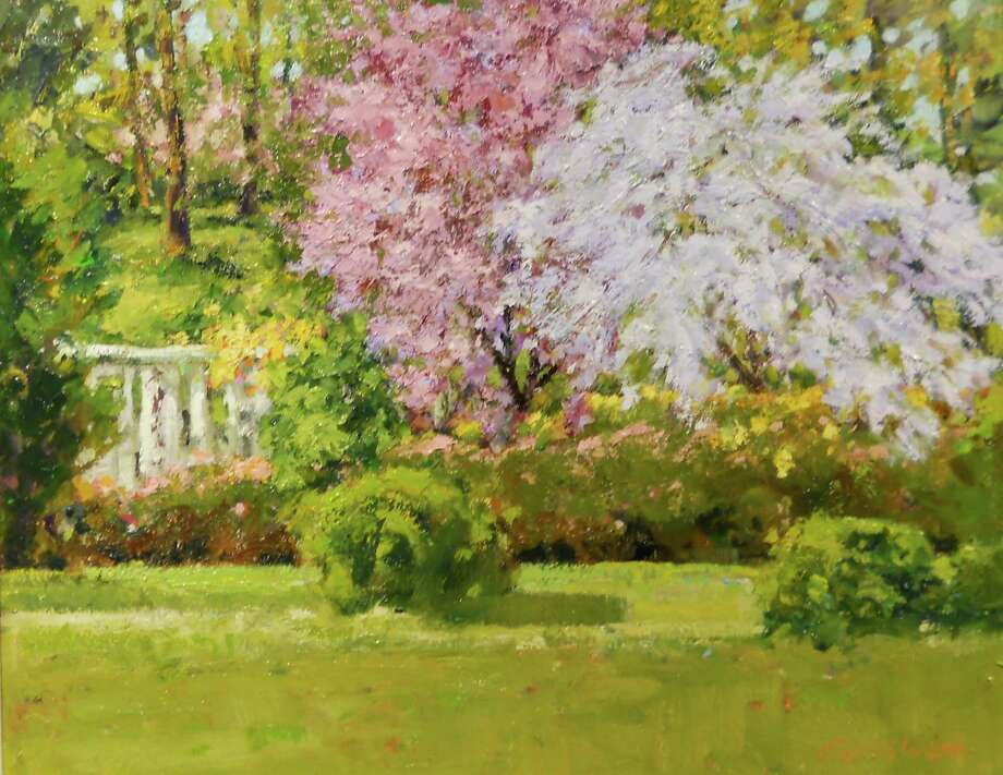 """Celebrating Spring: The Florals of Judith Carbine"" will be on display through March at the Geary Gallery, 576 Boston Post Road, Darien. Photo: Contributed Photo, Contributed / Darien News"