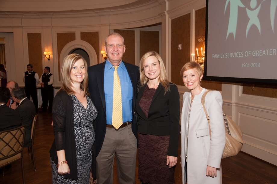 Brandy Ballard, David Pitts, Lisa Pitts, Cristina Cannon at the Family Services of Greater Houston 110th Anniversary, Feb. 26, 2014 Photo: Alexander Rogers