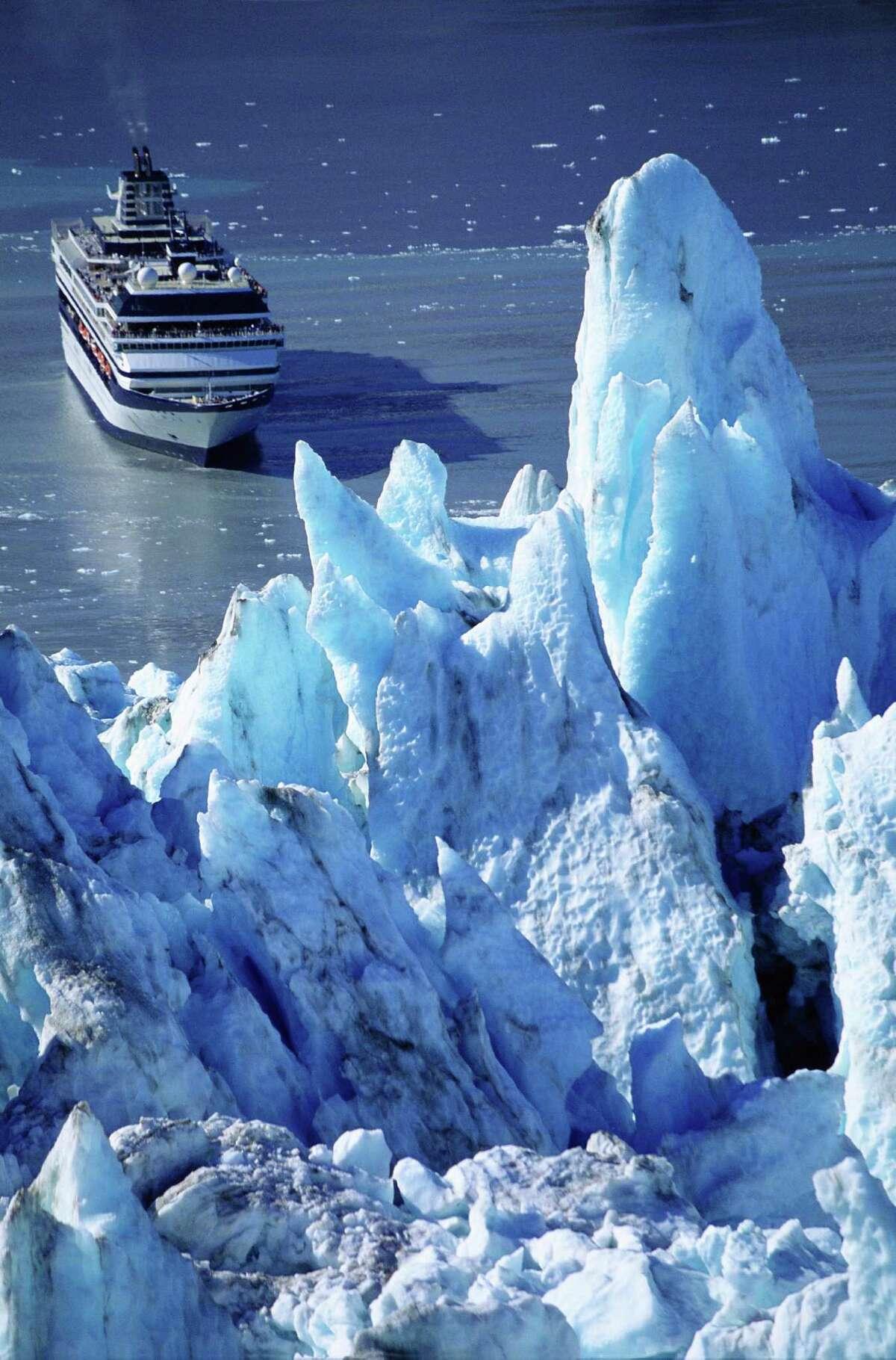 Cruise ship in Glacier Bay National Park.