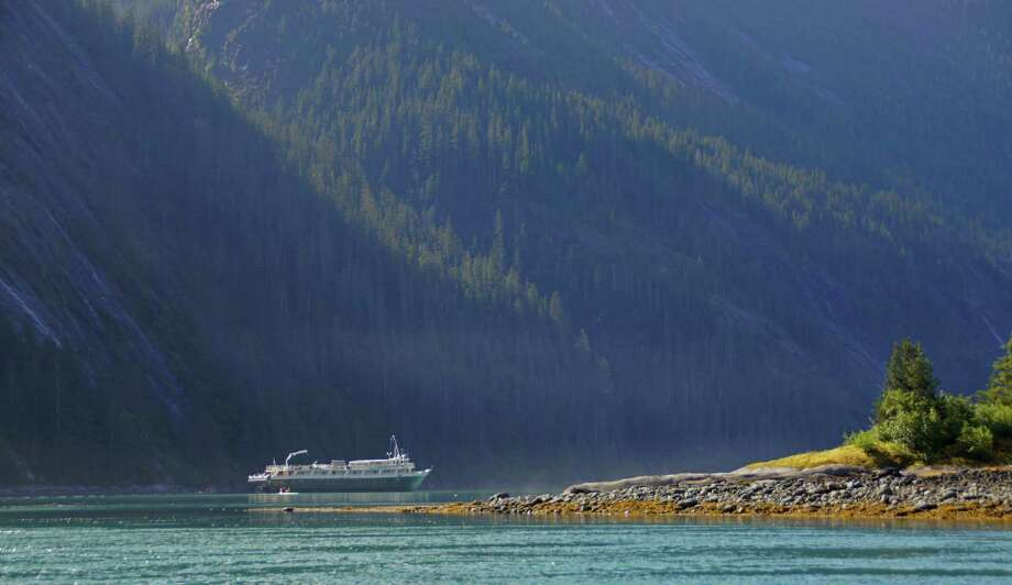 A small Un-Cruise Adventures ship lets passengers get an up-close view of nature in Alaska. Photo: Glen Petrie