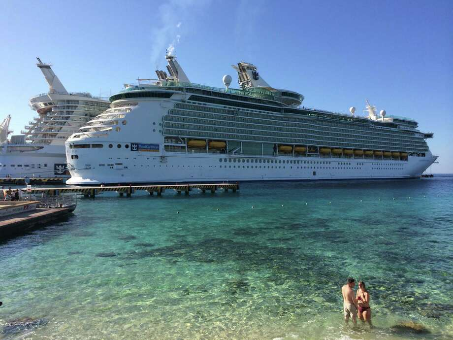 Royal Caribbean's Navigator of the Seas in Cozumel, Mexico, docks next to the cruise line's Allure of the Seas ship. Cozumel is a popular port of call among Caribbean cruisers. Photo: Jody Schmal